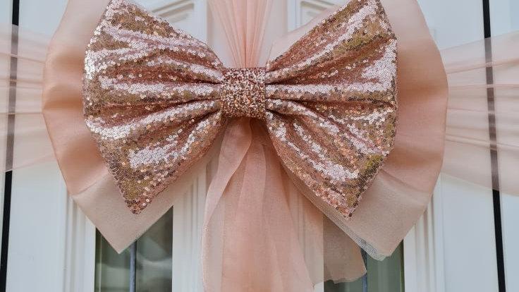 Christmas Door bow  Rose Golddoor bow   door bow