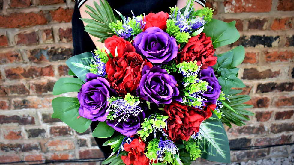 RedFlowers | Fake Bouquet of flowers | Wedding Flowers