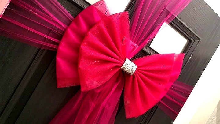 pink Door bow | door bow kit | door bow