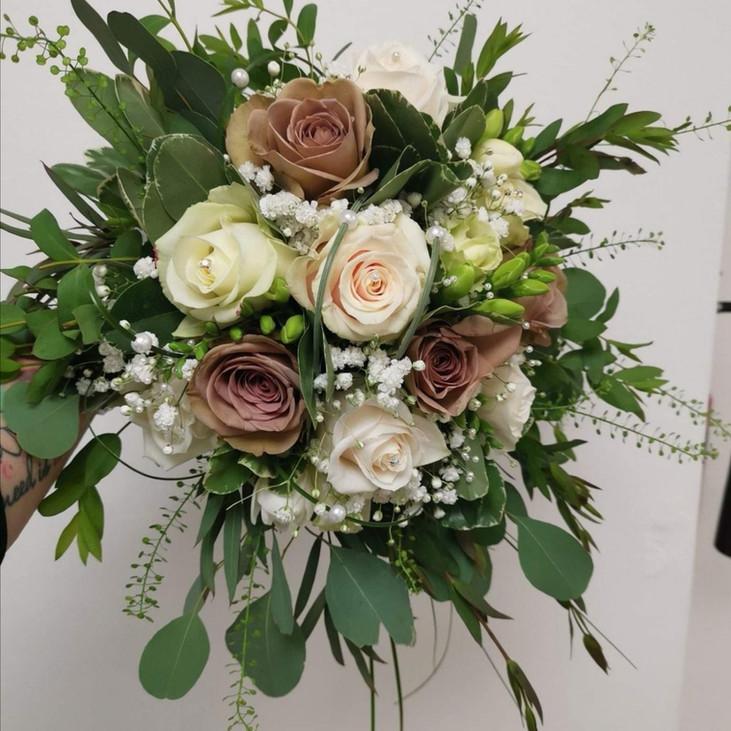 vintage Fresh Flower Wedding Bouquet