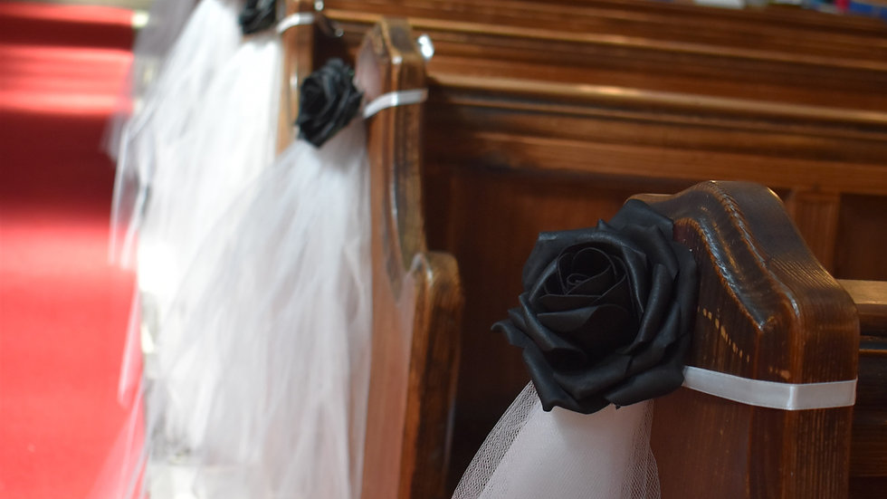 Black Wedding decorations | Church decoration for a wedding | Aisle decor for church wedding