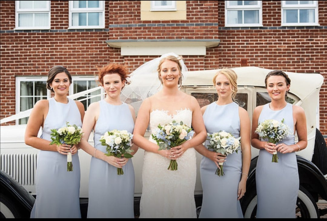Powder Blue Bridesmaids
