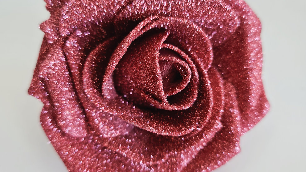 Dusky Rose Pink Christmas  Rose Decoration Tree Garland curtain Clip on set of