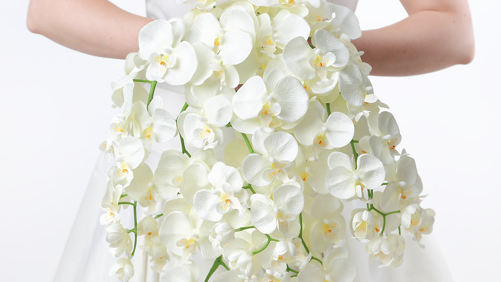 Ivory Orchid Bridal Wedding Flower Collection
