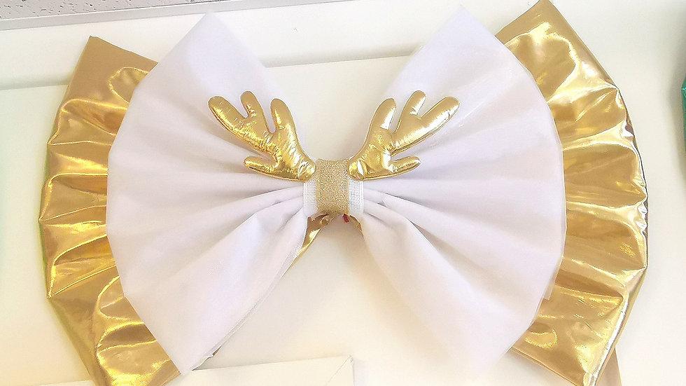 Gold reindeer  Luxury Door Bow