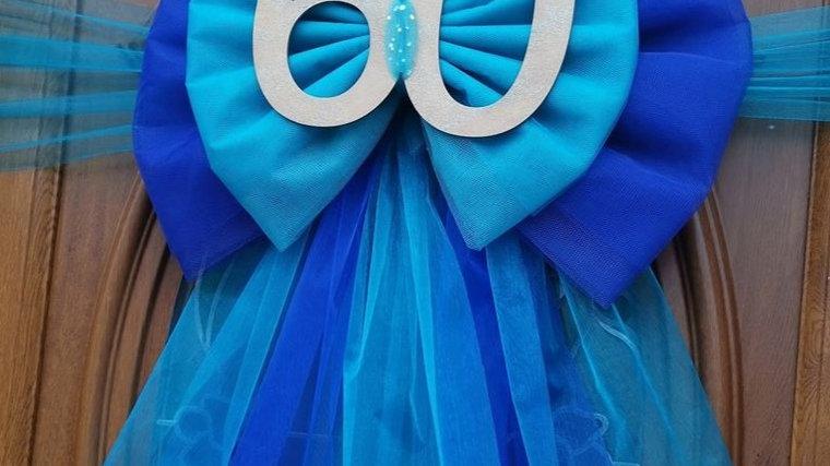 Bluebow | Birthday decor | bow on door |