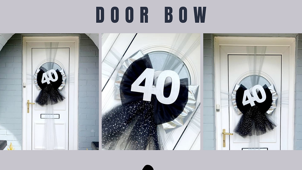 Blackbow | Birthday decor | bow on door |