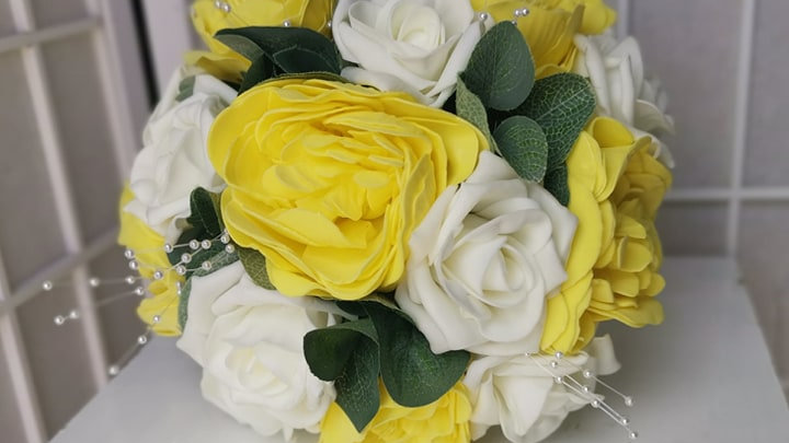 Yellow Wedding Flowers | Fake Bouquet of flowers | Wedding Flower