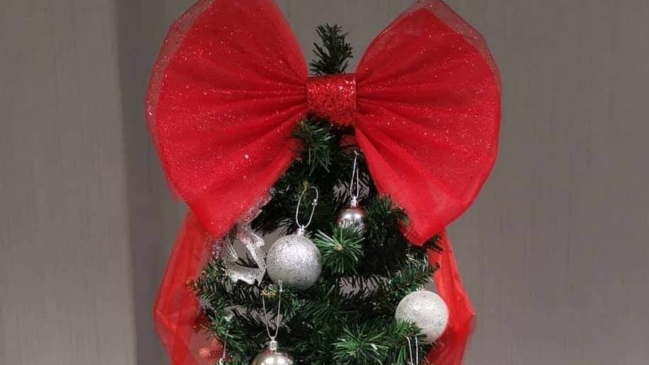 Red Tree Decorations  Christmas bow for tree   Christmas Tree Decor
