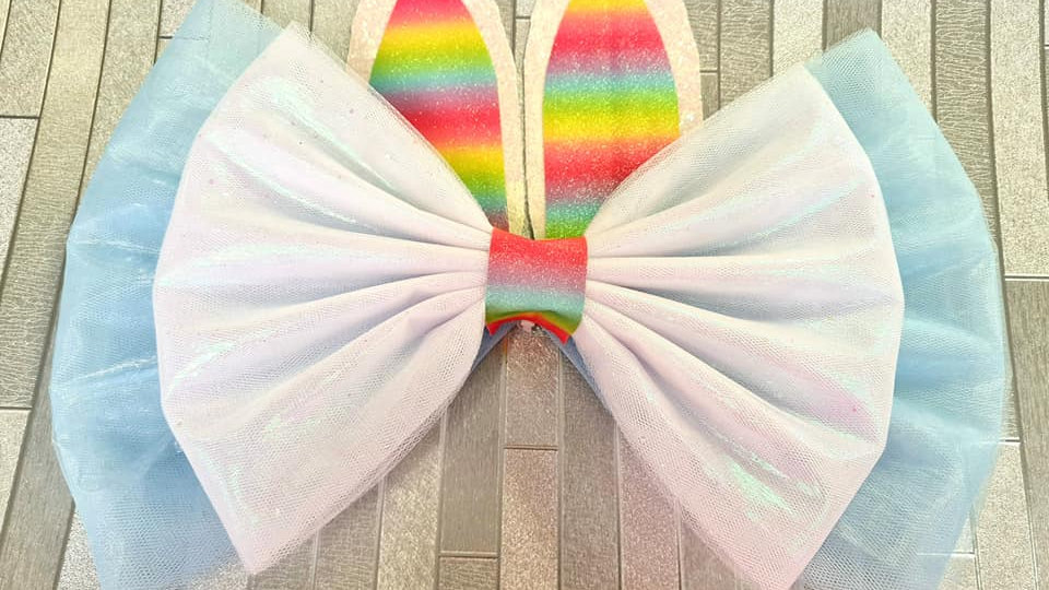 Easter Door bow | door bow kit | bow on door | Easter bunny door bow