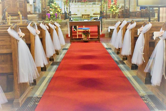 pewends  |  Wedding Church decor | Flower pew ends