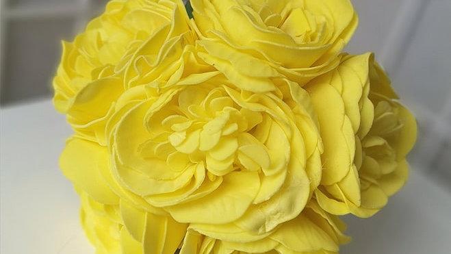 Yellow Posy| Fake Bouquet of flowers | Wedding Flowers