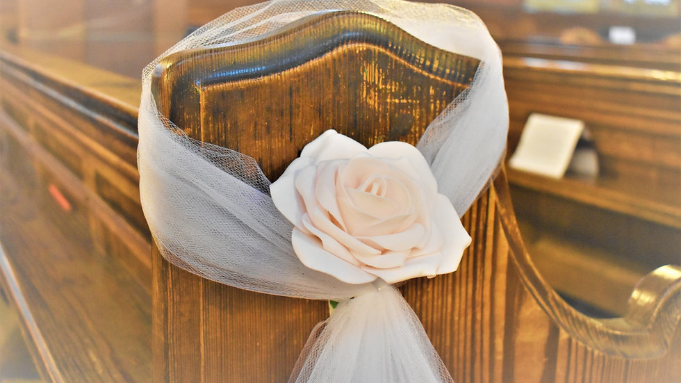 NudePew ends | wedding decoration| Church Flowers