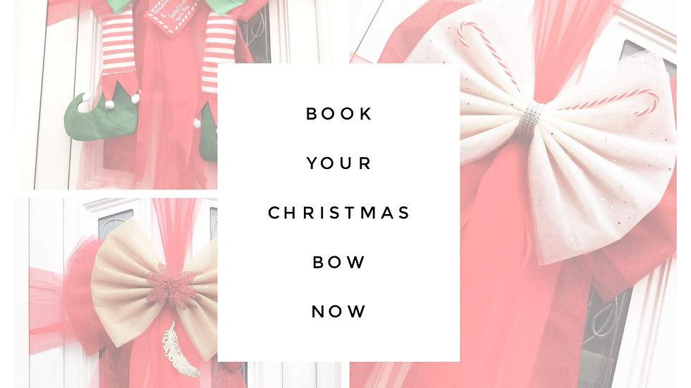 Christmas Door Bow Blackpool | Door Bow | Door Bow Kit