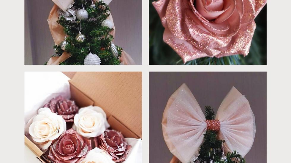 Rose Gold Christmas Tree decoration |Christmas tree topper | Christmas decoration |