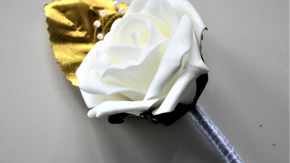 Gold Buttonhole | Wedding bouquets artificial | Wedding Flowers