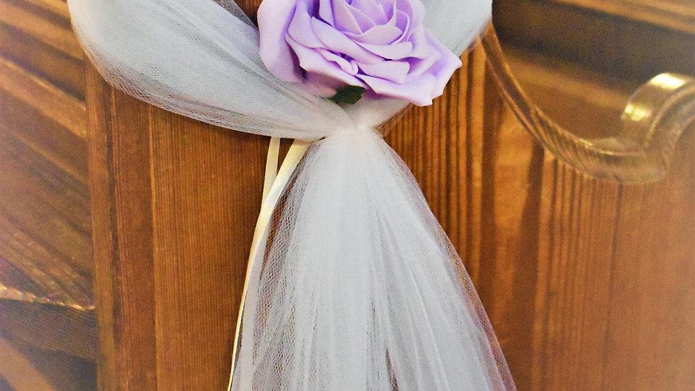 Lilac Pew ends | WeddingFlower Decoration | Church Flowers