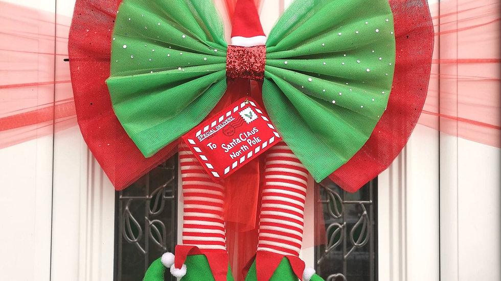Cheeky ElfDoor bow | Christmasdoor bow| door bow