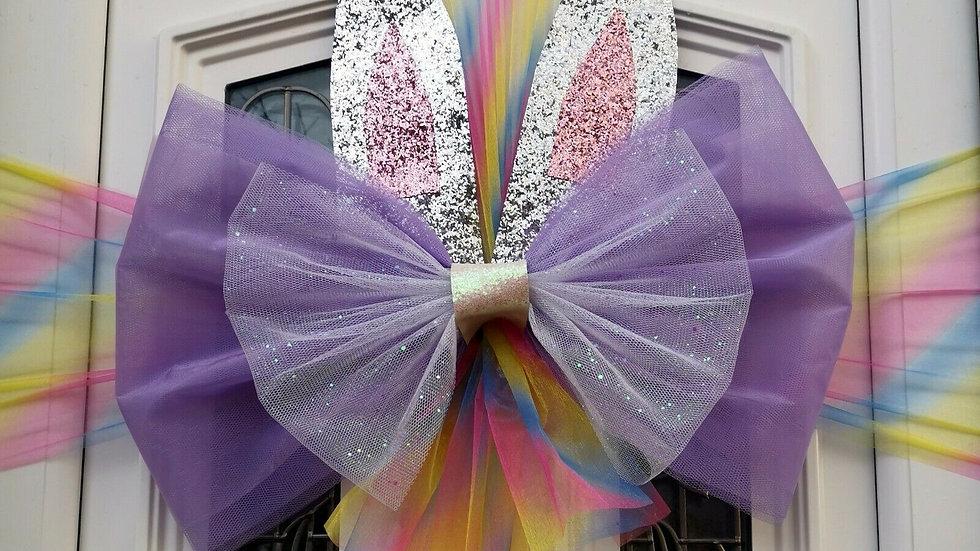 Easter Bunny Door Bow ..Dress your door ..