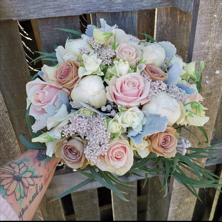 Blush mocha Wedding Bouquet