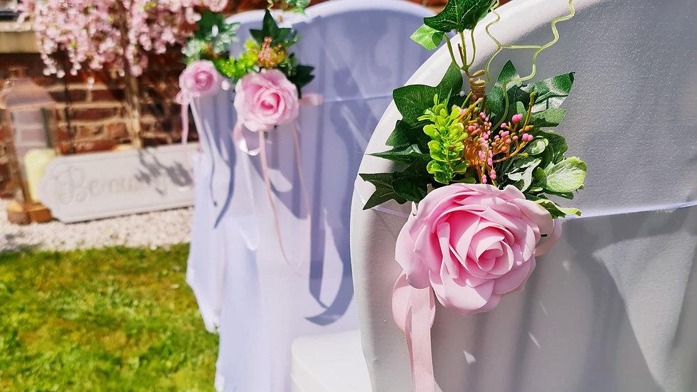 Pink Wedding decorations  chair aisle decorations wedding   Wedding chair Flowers