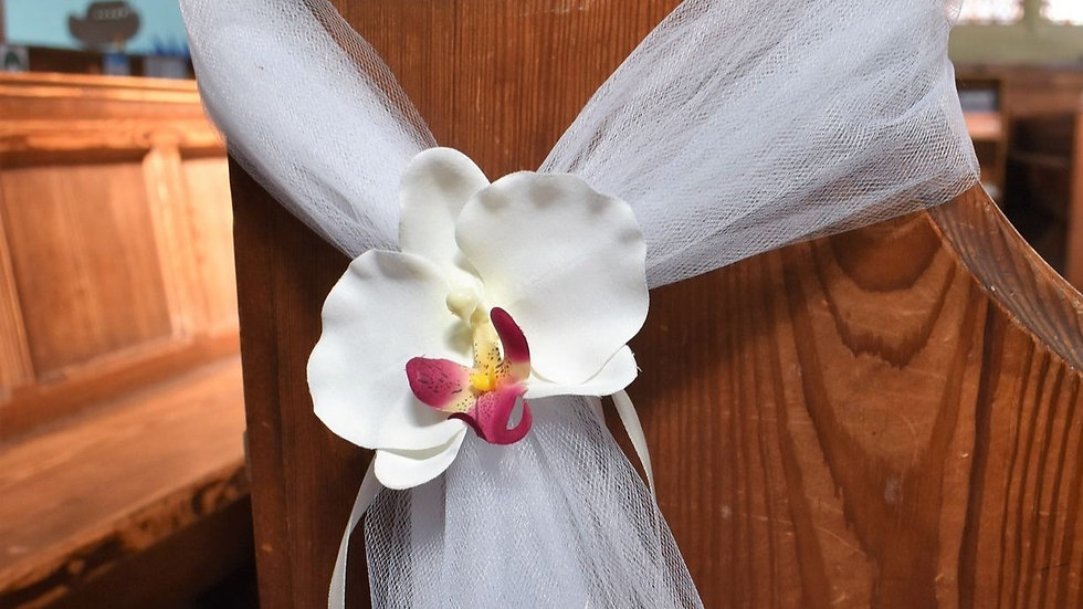 OrchidPew ends | wedding decoration| Church Flowers