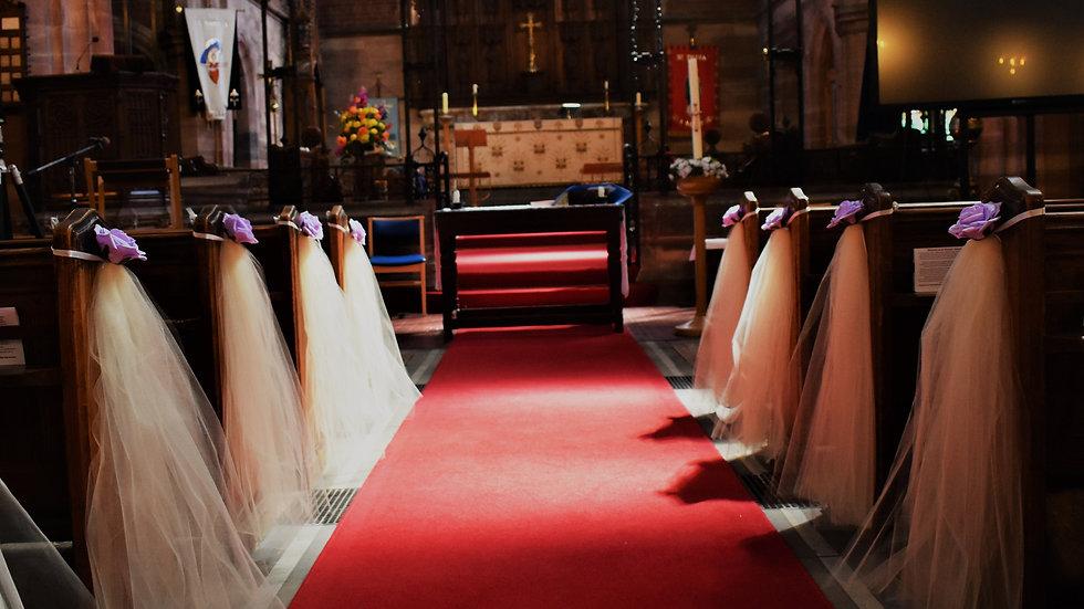 Lilac Wedding decorations   Church decoration for a wedding   Aisle decor for church wedding