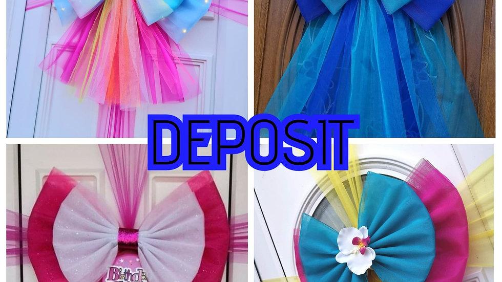 Birthday Bow Deposit  ( Blackpool ) Fitting
