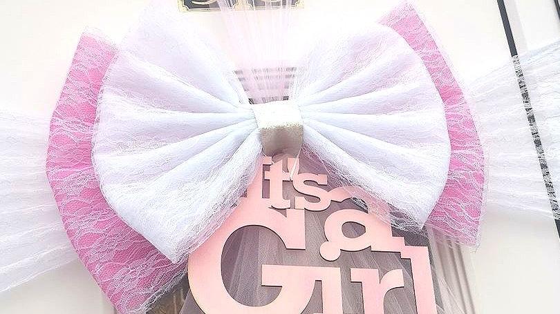 Baby Pink Door bow | door bow kit | door bow