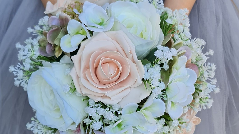 Nude pink Bridal Wedding Flower Collection