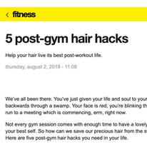 5 Post-Gym Hair Hacks