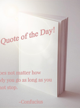 Quote of the Day! Don't Stop...