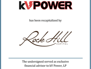 Romanchuk & Co. Advises kV Power on Recapitalization with Rock Hill