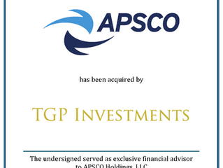 APSCO Acquired by TGP Investments