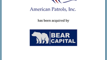 Romanchuk & Co. Advises American Patrols on Sale to Bear Captial