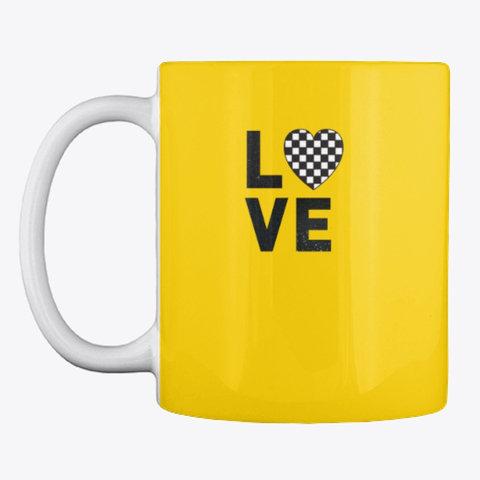 "Mug ""LOVE (checkered heart)"""