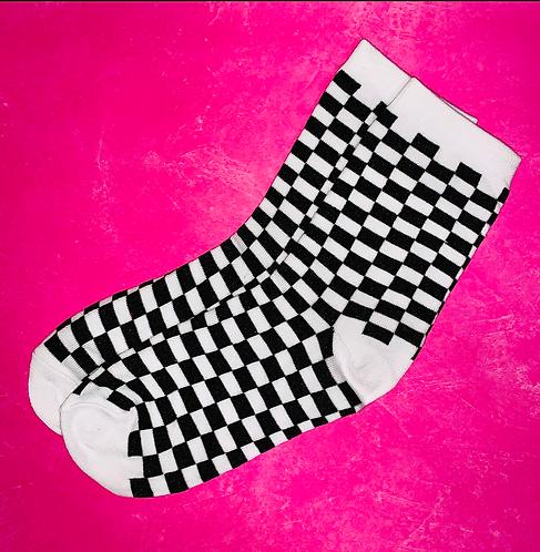 Checkered Flag Race Socks