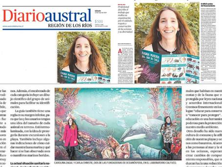 Diario Austral de Los Ríos destaca nuestra labor en educación y conservación marina