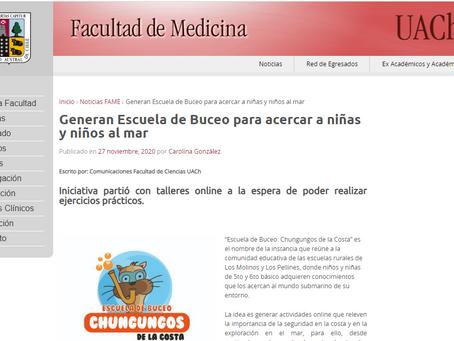 Noticias Medicina UACh: Oceanósfera colabora en Escuela de Buceo