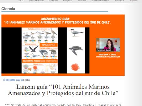 Prensa UACh destaca lanzamiento de 101 Amenazados