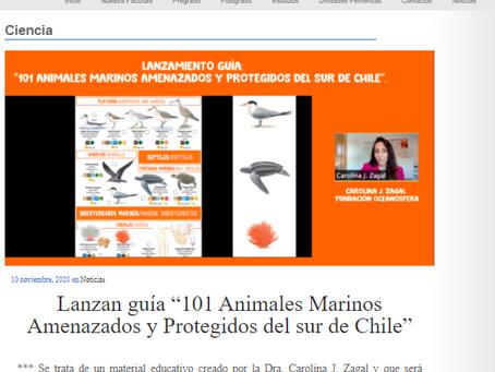 Noticias UACh: lanzamiento de  guía 101 Animales Marinos Amenazados por Oceanósfera