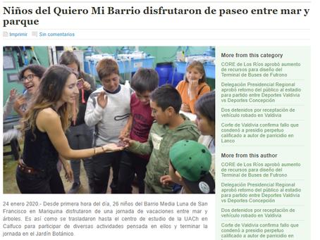 Diario El Ranco: Talleres Verano UACh y Oceanósfera para conocer animales marinos de Chile