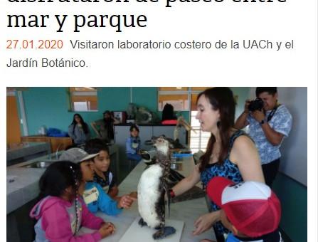 """Nuestro taller """"Explorando la fauna marina del sur de Chile"""" en las noticias"""
