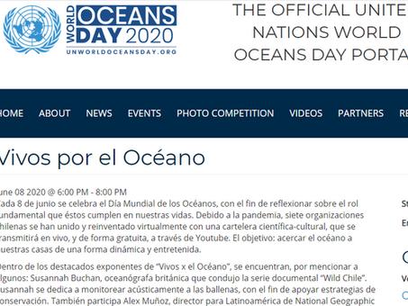 """La Organización de las Naciones Unidas destaca """"Vivos por el Océano"""""""