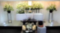 スタンドを使った花祭壇