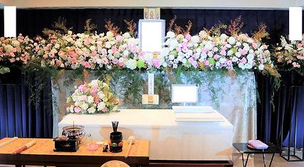 花祭壇広がりのある挿し方で