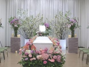 活け花のような花祭壇