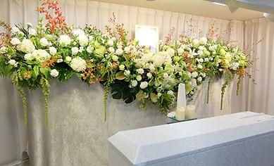 紫陽花の花祭壇
