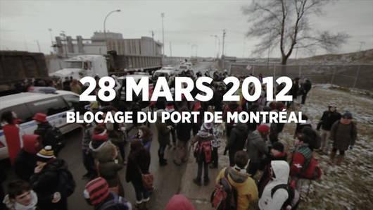 Blocage du Port de Montréal