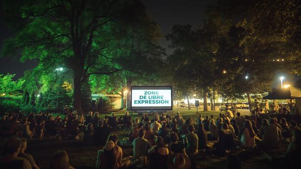 Le film présenté pour la toute première fois au public.